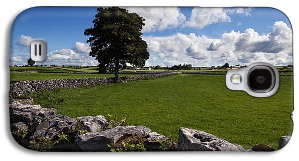 Farmscape Galaxy S4 Cases - Pastoral Farmland Between Clonbur Galaxy S4 Case by Panoramic Images