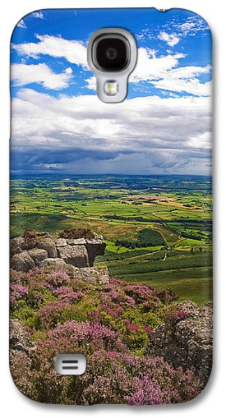 Farmscape Galaxy S4 Cases - Pastoral Fields From Above Coumshingaun Galaxy S4 Case by Panoramic Images