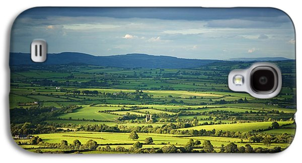 Farmscape Galaxy S4 Cases - Pastoral Fields, Near Clonea, County Galaxy S4 Case by Panoramic Images