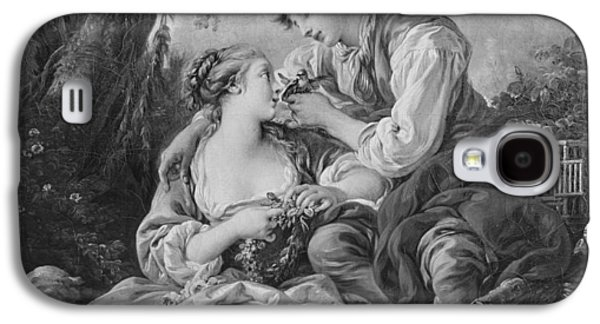Male Drawings Galaxy S4 Cases - Pastoral scene Galaxy S4 Case by Francois Boucher