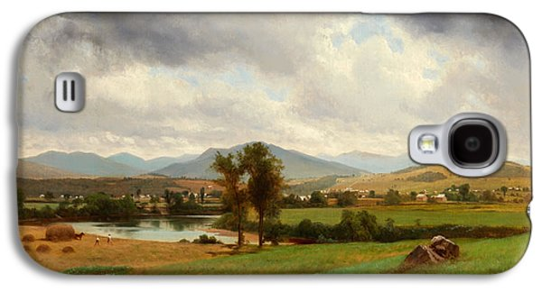 Hay Bales Paintings Galaxy S4 Cases - Pastoral Scene Galaxy S4 Case by Johnson