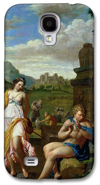 Pastoral Paintings Galaxy S4 Cases - Pastoral Scene Galaxy S4 Case by Pieter Veen