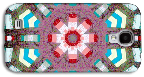 Block Quilts Tapestries - Textiles Galaxy S4 Cases - Patchwork Art Galaxy S4 Case by Barbara Griffin