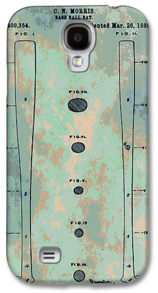 Espn Galaxy S4 Cases - Patent Art Baseball Bat Galaxy S4 Case by Dan Sproul