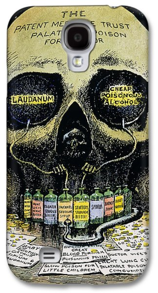 Political Allegory Galaxy S4 Cases - Patent Medicine Cartoon Galaxy S4 Case by Granger