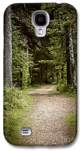 Recreation Photographs Galaxy S4 Cases - Path in old forest Galaxy S4 Case by Elena Elisseeva