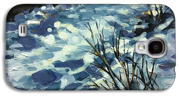 Snow Landscape Galaxy S4 Cases - Path of Peace Galaxy S4 Case by Mary Medrano