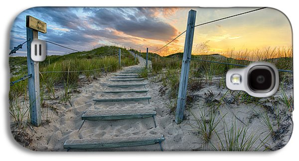 Sun Galaxy S4 Cases - Path Over The Dunes Galaxy S4 Case by Sebastian Musial