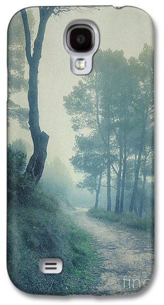 Path Through Pinewood Mist Galaxy S4 Case by Paul Grand