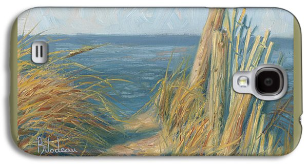 Ocean Paintings Galaxy S4 Cases - Path To The Beach Galaxy S4 Case by Lucie Bilodeau