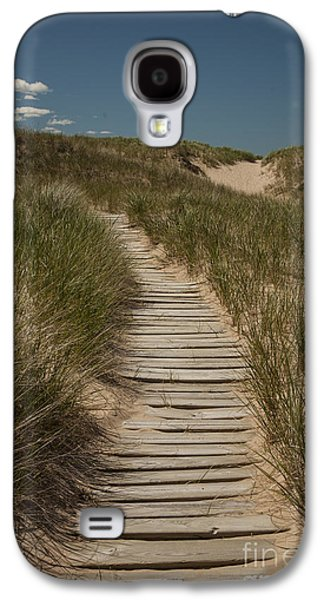 Wooden Stairs Galaxy S4 Cases - Path to the Beach Galaxy S4 Case by Timothy Johnson
