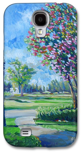 Stockton Paintings Galaxy S4 Cases - Path With Flowering Trees Galaxy S4 Case by Vanessa Hadady BFA MA