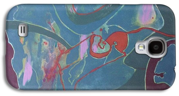 Curvilinear Paintings Galaxy S4 Cases - Pathways Galaxy S4 Case by Collette Jones