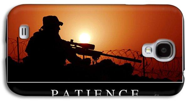 Iraq Posters Galaxy S4 Cases - Patience Inspirational Quote Galaxy S4 Case by Stocktrek Images