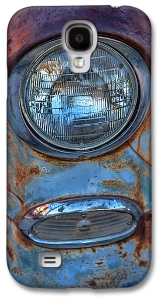 Antique Automobiles Galaxy S4 Cases - Patinaed Headlight Galaxy S4 Case by Peter Tellone