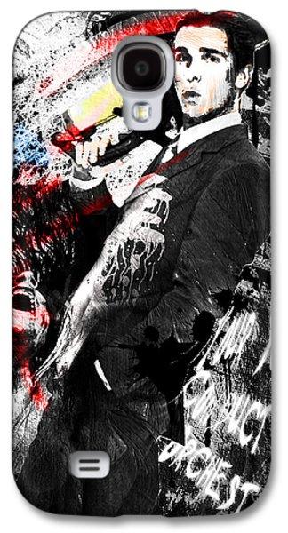 Christian work Paintings Galaxy S4 Cases - Patrick Bateman - American Psycho Galaxy S4 Case by Ryan RockChromatic