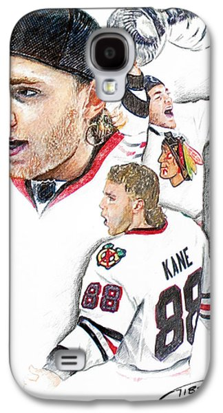Hockey Pastels Galaxy S4 Cases - Patrick Kane - the Moment Galaxy S4 Case by Jerry Tibstra