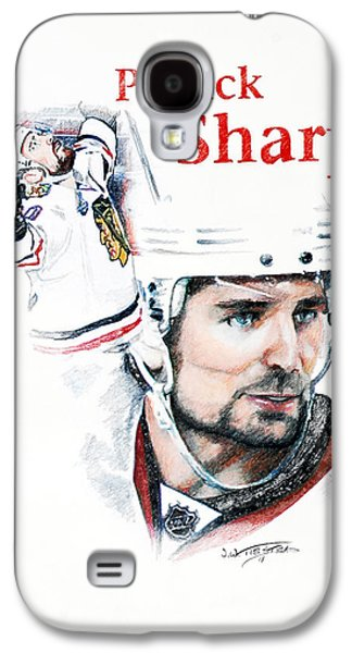 Hockey Pastels Galaxy S4 Cases - Patrick Sharp - The Cup Run Galaxy S4 Case by Jerry Tibstra