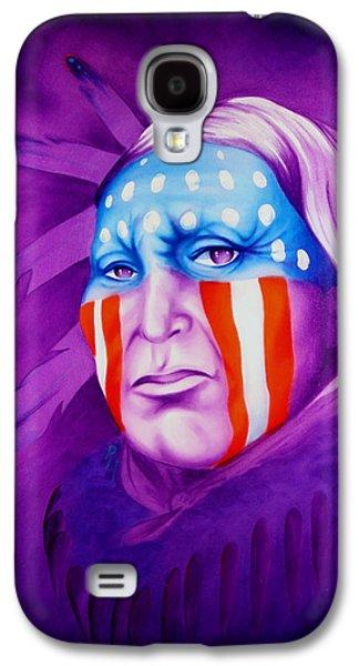 Airbrush Galaxy S4 Cases - Patriot Galaxy S4 Case by Robert Martinez