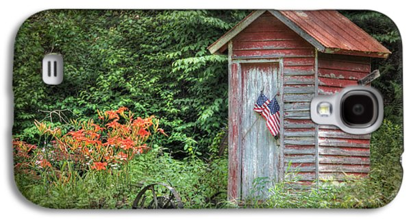 Lori Deiter Digital Art Galaxy S4 Cases - Patriotic Outhouse Galaxy S4 Case by Lori Deiter