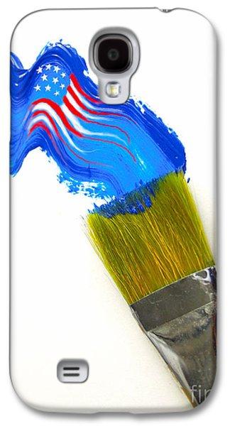 Patriotic Galaxy S4 Cases - Patriotic Paint Galaxy S4 Case by Diane Diederich