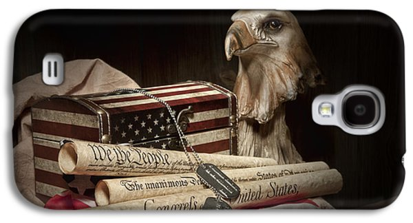 Declaration Of Independence Galaxy S4 Cases - Patriotism Galaxy S4 Case by Tom Mc Nemar