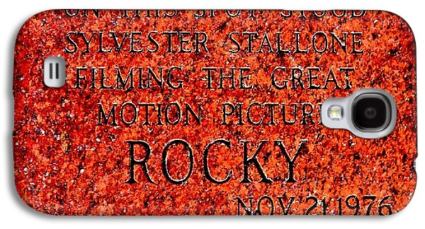 Boxer Galaxy S4 Cases - Pats Steaks - Rocky Plaque Galaxy S4 Case by Benjamin Yeager
