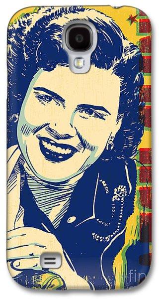 Western Digital Art Galaxy S4 Cases - Patsy Cline Pop Art Galaxy S4 Case by Jim Zahniser