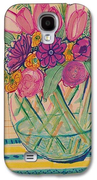 Nature Study Mixed Media Galaxy S4 Cases - Pattern Flower Still life Galaxy S4 Case by Rosalina Bojadschijew