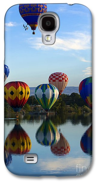 Hot Air Balloon Galaxy S4 Cases - Pattern of Six Galaxy S4 Case by Mike Dawson