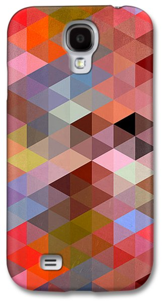 Surreal Geometric Galaxy S4 Cases - Pattern Of Triangle Galaxy S4 Case by Mark Ashkenazi