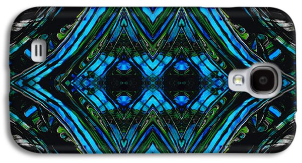 Blue And Green Galaxy S4 Cases - Patterned Art Prints - Cool Change - By Sharon Cummings Galaxy S4 Case by Sharon Cummings