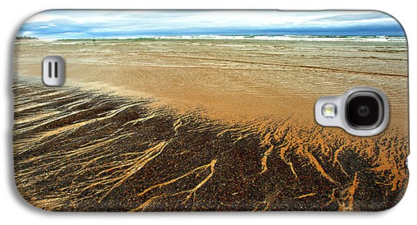 Agate Beach Oregon Galaxy S4 Cases - Patterns in the Tides Galaxy S4 Case by Artist and Photographer Laura Wrede