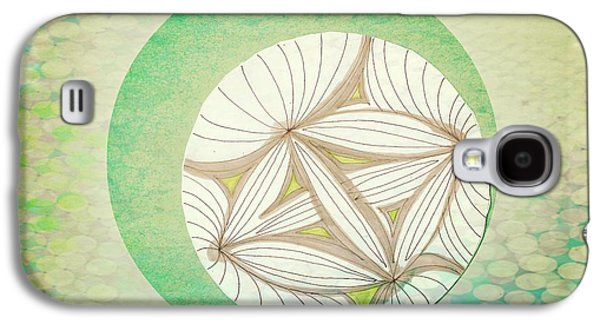 Abstract Collage Drawings Galaxy S4 Cases - Patterns Galaxy S4 Case by Victoria Fischer