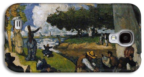19th Century Galaxy S4 Cases - Paul Cezanne 1839-1906. The Fishermen Fantastic Scene. Ca. 1875 Galaxy S4 Case by Bridgeman Images