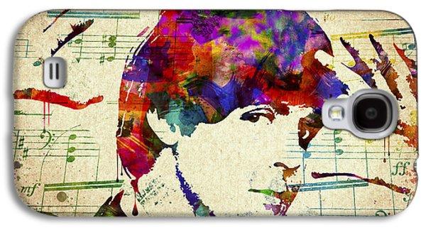 Ringo Starr Galaxy S4 Cases - Paul McCartney Galaxy S4 Case by Aged Pixel
