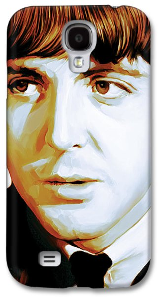 Beatles Galaxy S4 Cases - Paul McCartney Artwork Galaxy S4 Case by Sheraz A