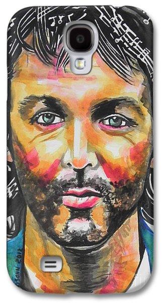 Beatles Galaxy S4 Cases - Paul McCartney Galaxy S4 Case by Chrisann Ellis