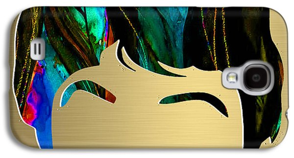 Beatles Galaxy S4 Cases - Paul McCartney Gold Series Galaxy S4 Case by Marvin Blaine