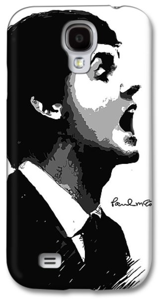 Famous Artist Galaxy S4 Cases - Paul McCartney No.01 Galaxy S4 Case by Caio Caldas