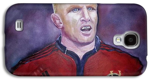 Rugby Paintings Galaxy S4 Cases - Paul O Connell Galaxy S4 Case by Lynda Ryan