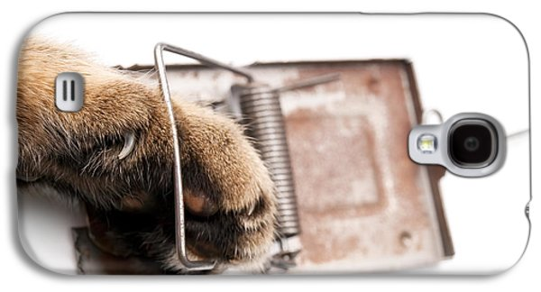 Fault Galaxy S4 Cases - Paw in mousetrap Galaxy S4 Case by Sinisa Botas