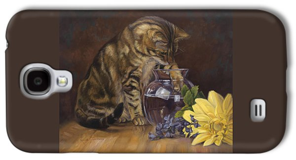 Marble Galaxy S4 Cases - Paw in the Vase Galaxy S4 Case by Lucie Bilodeau