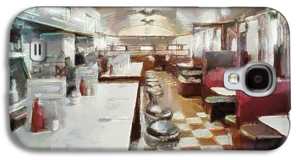 Owner Mixed Media Galaxy S4 Cases - Pawtucket Diner Interior Galaxy S4 Case by Dan Sproul