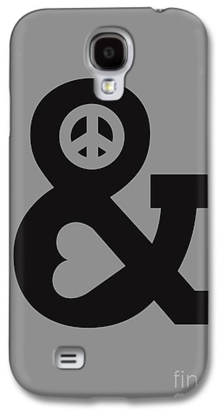 Typography Galaxy S4 Cases - Peace and Love Galaxy S4 Case by Budi Satria Kwan