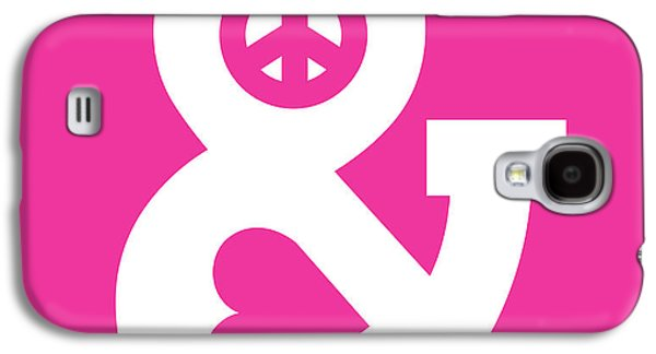 Pink Digital Art Galaxy S4 Cases - Peace and Love pink edition Galaxy S4 Case by Budi Satria Kwan