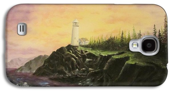 Bob Ross Paintings Galaxy S4 Cases - Peace In Troubled Seas Galaxy S4 Case by Gavin Kutil