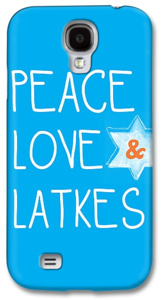 Miracle Galaxy S4 Cases - Peace Love And Latkes Galaxy S4 Case by Linda Woods
