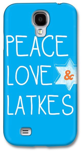 Peace Love And Latkes Galaxy S4 Case by Linda Woods