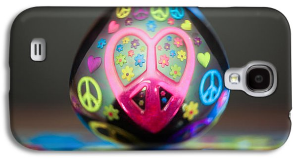 60s Photographs Galaxy S4 Cases - Peace Love Spoon Galaxy S4 Case by Aaron Aldrich